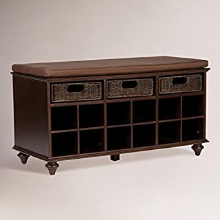 Chelmsford Entryway Storage Bench - Shoe Cubbies w/ Fixed Shelves - Expresso Finish (B003JY7J0I) | Amazon Products