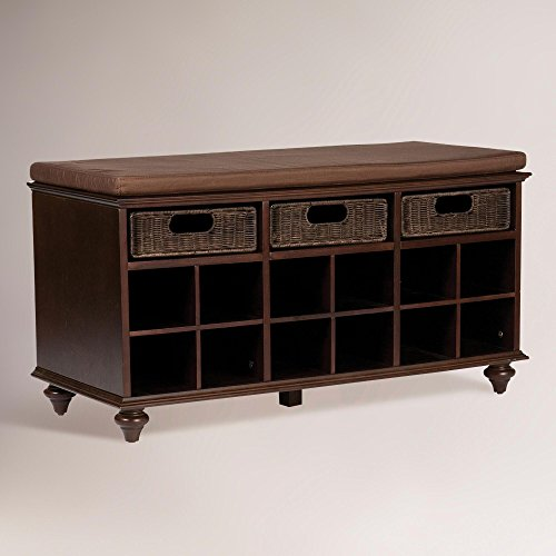 Southern Enterprises Chelmsford Entryway Shoe Storage Bench, Espresso Finish by Southern Enterprises