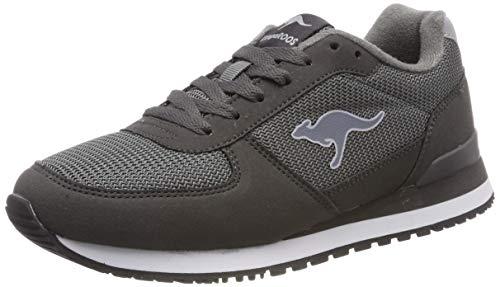Sneakers Kangaroo Mens - KangaROOS Unisex's Retro Racer Trainers, Grau (Steel Grey 2005), 3.5 UK