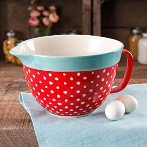 The Pioneer Woman Flea Market 2.83-Quart Red Batter Bowl with Decal