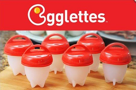 Egglettes AS SEEN ON TV!!! Get Hard Boiled Eggs Without The Shell! NEW!!