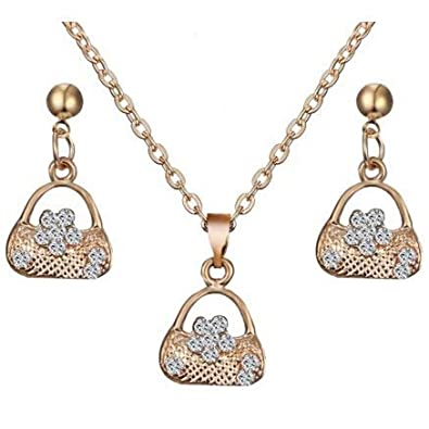 Hearty Women Bollywood Jewelry Necklace Earrings Set Bridal & Wedding Party Jewelry Jewelry & Watches
