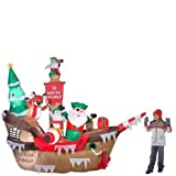10 Ft. H Inflatable Giant Christmas Pirate Ship Scene