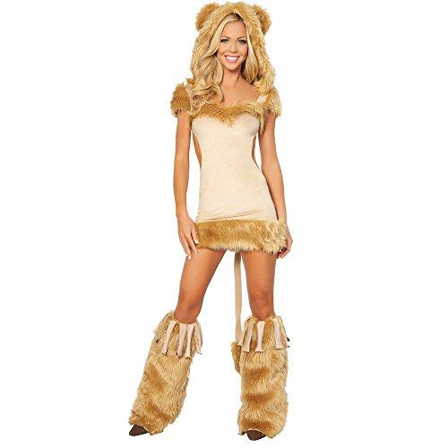[Courageous Lioness Costume - Medium - Dress Size 6] (Woman Lioness Costume)