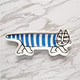 SaveStore 1PCS Ceramic Cat Jewelry Dish Rings Snack Candy Animal Model Storage Trays Red Blue Bowls Wedding Decoration Plates Crafts Gifts