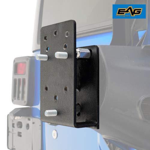 EAG Tire Relocation Bracket Fit for 1976-2018 Jeep Wrangler CJ/YJ/TJ/JK