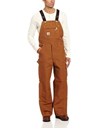 Men's Zip To Thigh Bib Overall Unlined R37