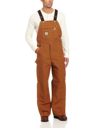 Carhartt Men's Zip To Thigh Bib Overall Unlined,Carhartt Brown,36 x 30 ()