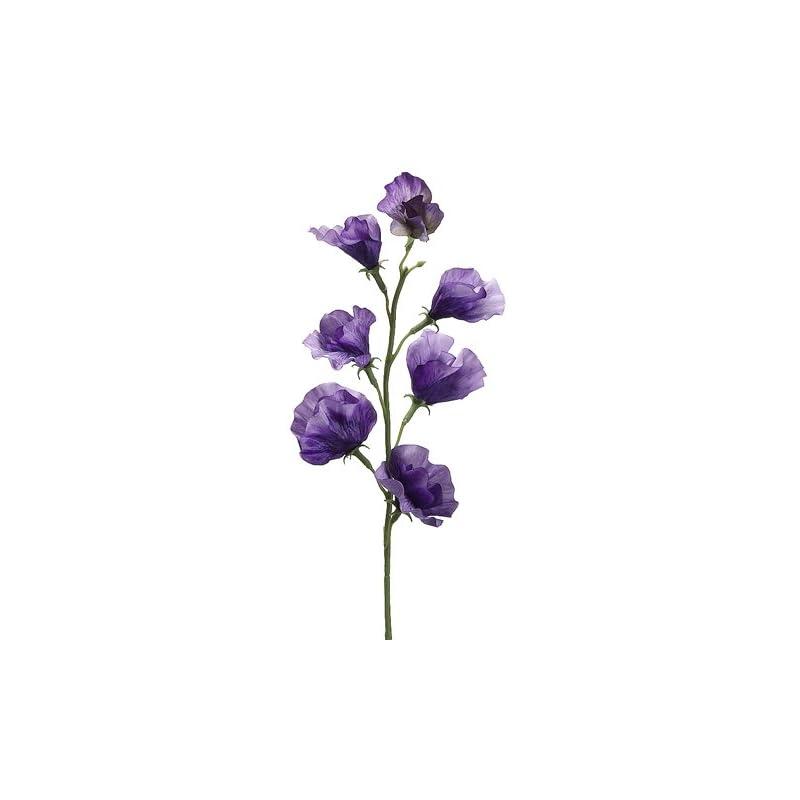 """silk flower arrangements 22"""" sweet pea spray dark lavender (pack of 12)"""