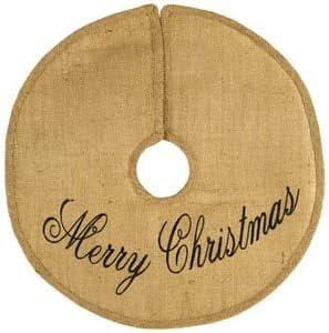 "16"" Merry Christmas Burlap Tree Skirt"