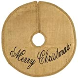 16'' Merry Christmas Burlap Tree Skirt