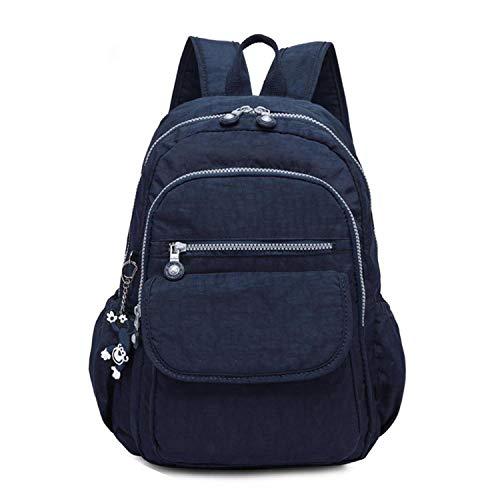 (Laptop School Backpacks For Teenage Feminine Backpacks Anti Theft Waterproof Bags For Women,Deep Blue,27Cmx13Cmx37Cm 1503)