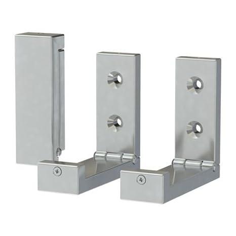 Ikea Bjärnum - Gancho Plegable, Aluminio/3 Pack - 8 cm ...