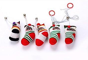 ZHJZ - Calcetines interactivos de Juguete con Forma de Calcetines de Navidad con Campana, Juguete