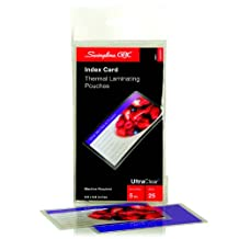GBC HeatSeal UltraClear Thermal Laminating Pouches, 3.5 x 5.5 Inches, 5 mm Thickness, Clear, 25 Pouches per Pack (3202002)