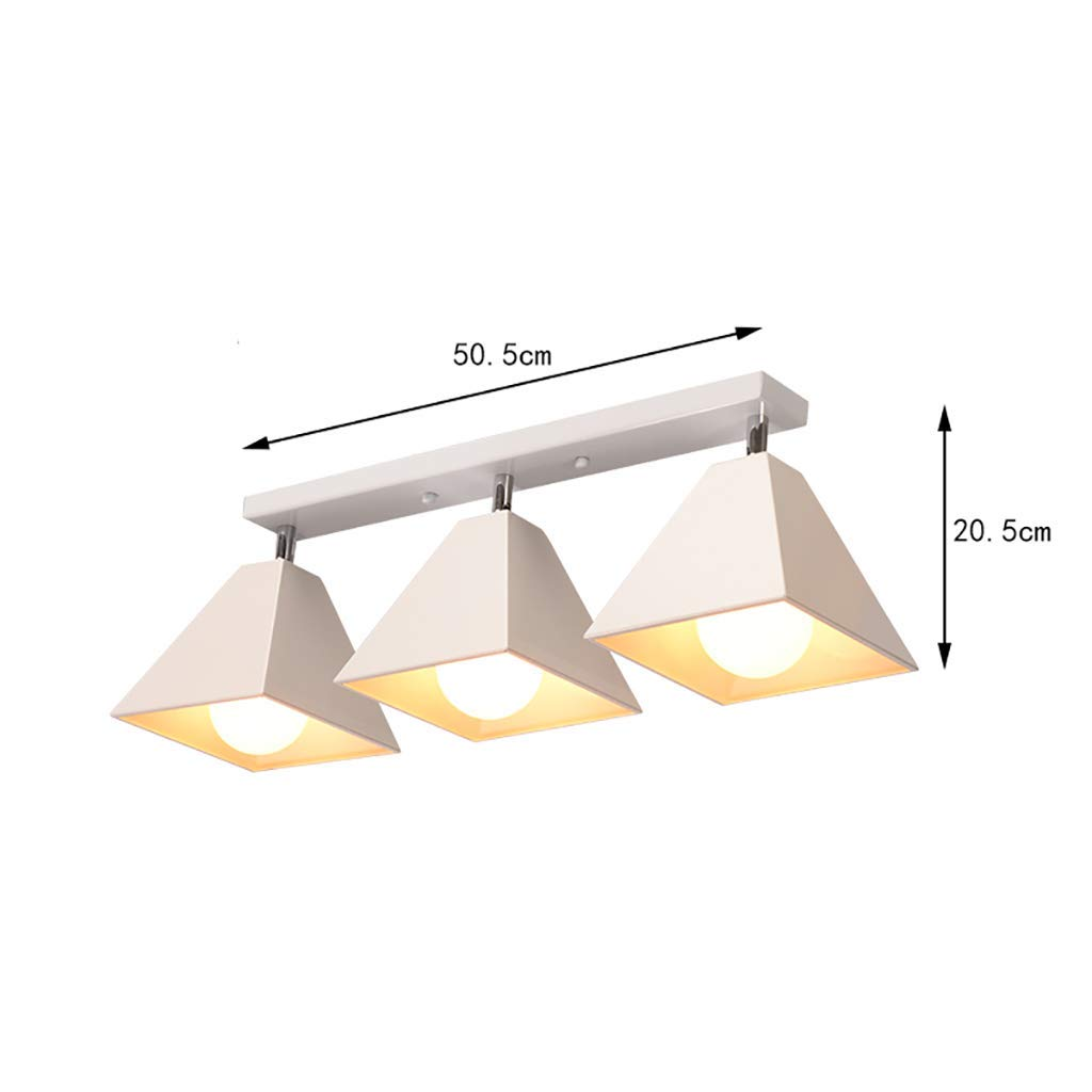 YANG Ceiling Light Retro Iron Industrial Style Loft American Ceiling Lamps European Bedroom Lamps Background Wall Spotlight,White-3 Heads