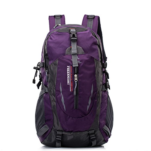 Awaytoy 40L Hiking Backpack with Laptop Compartment for Trekker Hiker Climbing Camping Travel Trip Picnic Cycling Gym Purple hot sale