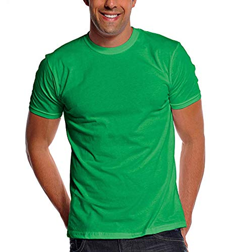 Pro Club Men's Premium Lightweight Ringspun Cotton Short Sleeve T-Shirt, Apple Green, 2X-Large -