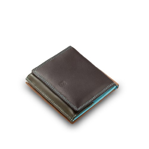 Dark purse Collection with wallet coin Colorful Flavio multicolour DUDU leather Small ~ Brown billfold wqY7ZZ