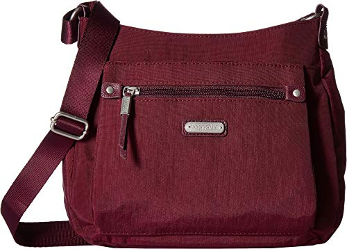 with Wristlet Bagg Uptown Phone Baggallini Eggplant RFID T4Ewq