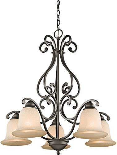 Kichler 43225OZ Camerena Chandelier 5-Light, Olde Bronze