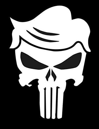 2 PACK 2020 Donald Trump Hair Skull MAGA POTUS Punisher Car Bumper WindowSticker