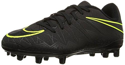 Nike Kids Jr Hypervenom Phelon II Fg Black/Black/Volt Soccer Cleat 2.5 Kids US (Volt Football Cleats compare prices)