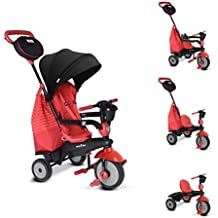 SmartTrike's Swing DLX: 4 In 1 Tricycle For Babies 10 Months & Above | Trike Bike That Grows With The Child | Adjustable, Convertible & Comfortable | Touch Steering & Washable Padded Seat Cover