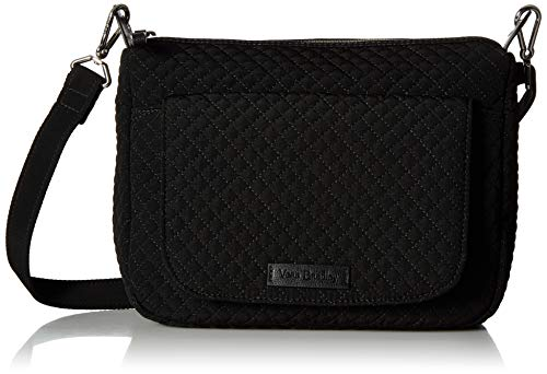 Vera Bradley Iconic Shoulder Bag, Microfiber, Classic Black