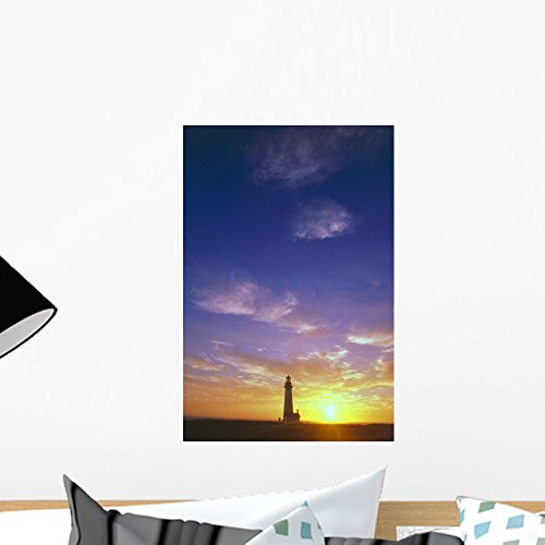 - Wallmonkeys Sunset behind Yaquina Head Wall Mural Peel and Stick Graphic (18 in H x 12 in W) WM290080
