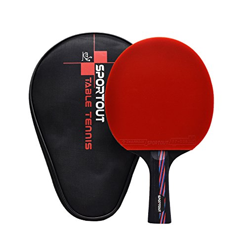 ITTF Approved Table Tennis Bat, Professional Pingpong Racket Paddle with...