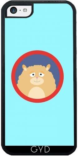 Coque Silicone pour Iphone 5C - Hamster Duveteux Rouge by ilovecotton