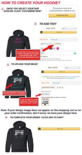Add Your Own Text and Design Custom Personalized Youth Sweatshirt Hoodie |