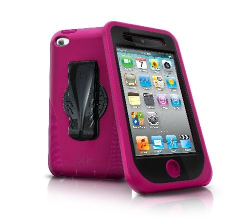 iSkin TCDUO4-PK Duo Hybrid Case for iPod Touch 4G - Pink