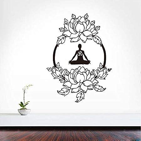Meditación Yoga Pegatinas de Pared Flores Decoración del ...