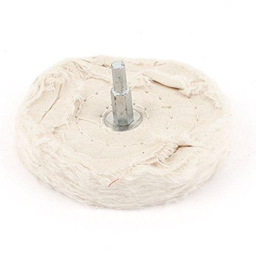 0.25' Abrasive - El pulido de la rueda polaca 1/4 pulgadas caña recta 4 pulgadas 100mm Dia Blanca