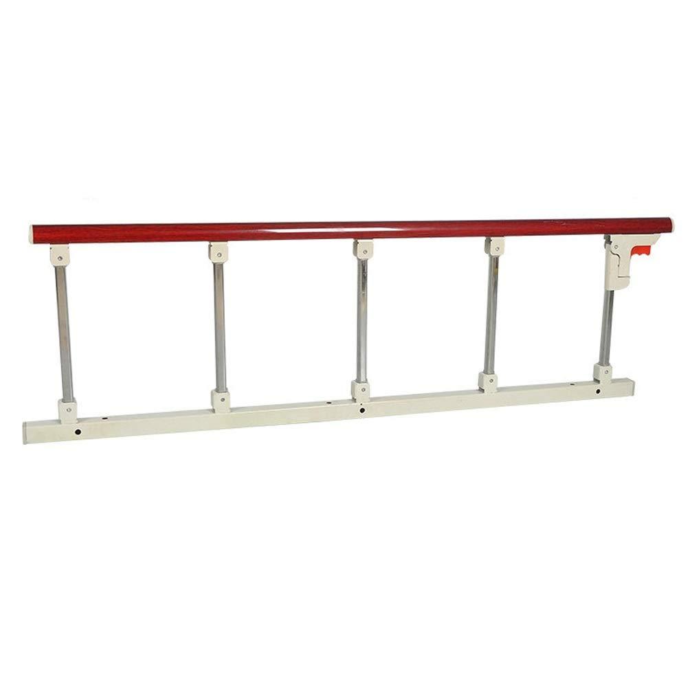 ベッドレール 高齢者 - 病院の赤い木製の穀物のステンレス鋼のハンドルのベッドサイドガードレールのための折り畳み式のベッドの柵の安全サイドガード (サイズ さいず : 5 gear) 5 gear  B07PS1C5MF