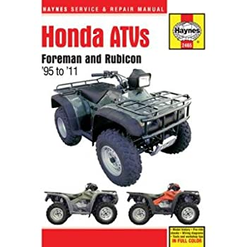 amazon com clymer m205 repair manual automotive rh amazon com 2001 honda foreman 450 es repair manual honda foreman 450 es repair manual