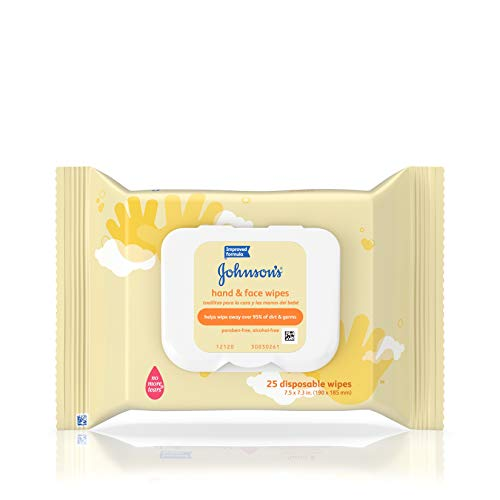 Johnson's Hand & Face Baby Wipes