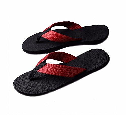 Flip Slippers De Sandalias Para Zgsr Hombre Rojo flip f Summer qP6xXp