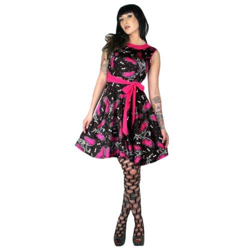 Too Fast - Vestido - plisado - para mujer negro
