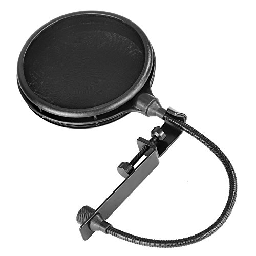 Neewer NW-019 Dual Layer Microphone Pop Filter with Flexible Gooseneck Extendable Metal Clamp Arm, Soft Nylon Filter for USB, Dynamic, Ribbon Microphones Like Blue Yeti Blue Spark Snowball Samson C01U -  Neewer®, 40089235