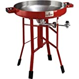 FireDisc - Deep 24'' Backyard Plow Disc Cooker - Fireman Red | Portable Propane Outdoor Camping Grill
