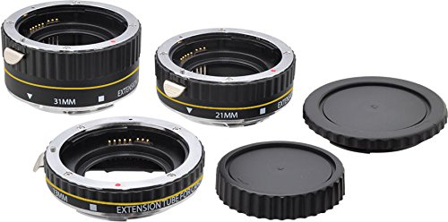 BRENDAZ Auto Focus AF Macro lens Extension Tube Set 13mm 21mm 31mm for Canon EOS EF & EF-S Mount Lens SLR / DSLR Camera.