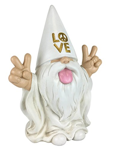 Rocker Gnome George Peace And Love This Gnome Brings Peace And Love To All And Your Fairy Garden And Gnome Garden By Glitzglam 10 Inches Tall Garden Gnome Figurine
