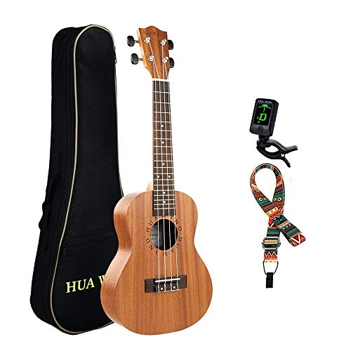 Professional Concert Ukulele Kit Mahogany HUAWIND Uke Starter Kit Hawaiian Ukulele Beginner Kit for Players Kids Adults Beginners Students Children (Concert)