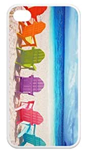 Fashion Cases Beach Chairs Back iPhone 4,4s Cases Cover