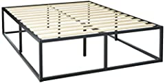This sturdy mattress foundation is designed for strength and style. The extra strength steel framed mattress foundation by Zinus features wooden slats with non-slip tape that provide strong support for your memory foam, latex, or spring mattr...