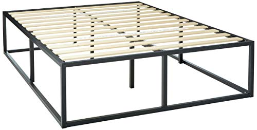 Zinus Joesph Modern Studio 18 Inch Platforma Bed Frame / Mattress Foundation / Boxspring Optional / Wood slat support, Queen (Bed Raised Base)