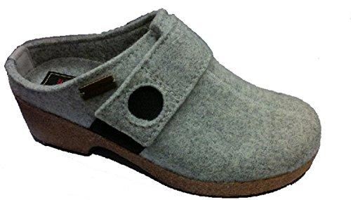 Pantofola Donna Grizzly Wikinger Wedge Grigio Zeppa 37 Haflinger 7110309684 Tnq74w7U